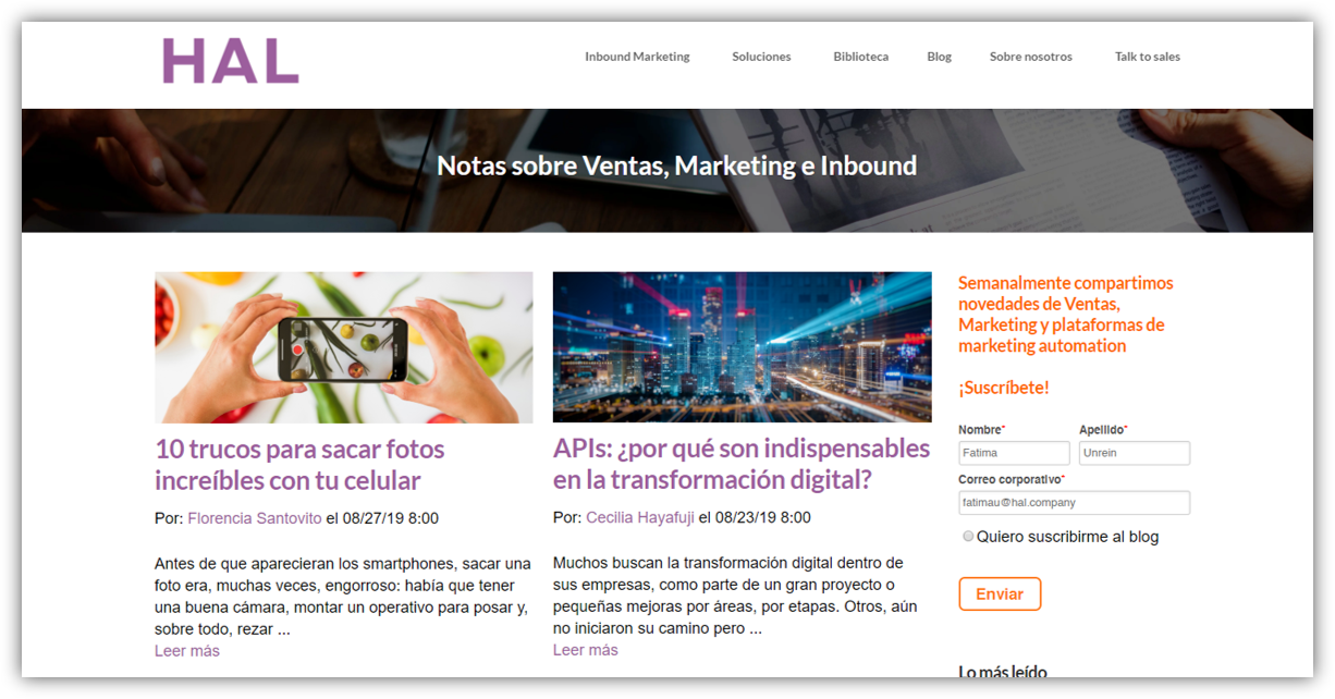 HAL Company - inbound marketing hubspot