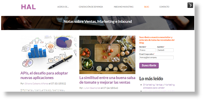 que es hubspot hal company inbound marketing argentina