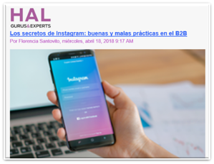 HAL Company Instagram para b2b
